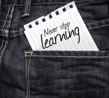 Om jezelf te ontwikkelen mag je nooit stoppen met leren