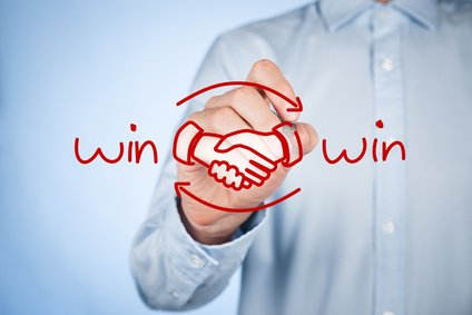 win-winsituatie onderhandelen