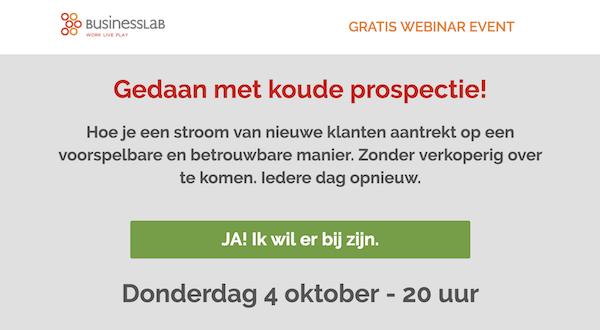 Webinar Gedaan Met Koude Prospectie Businesslab