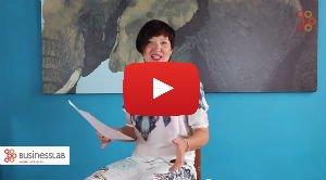 An Verstraete in een video over haar droombord